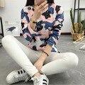 2016 de otoño e invierno camisetas para mujeres de dibujos animados de impresión de camuflaje camiseta harajuku tumblr bts bts camiseta femme exo k-pop