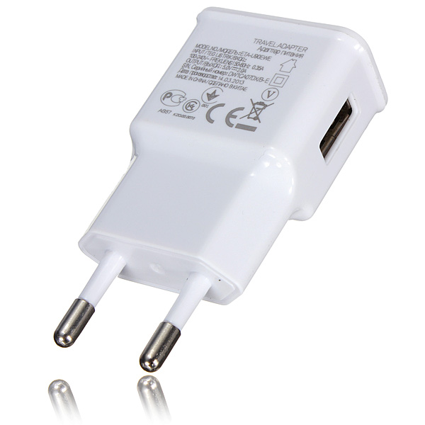 5V 2A USB EU Plug Mini White Portable Wall Home Travel