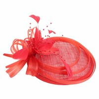 1PC Fashion Ladies Feather Mesh Beads Fascinator Hair Clip Hairpin Party Prom Accessory