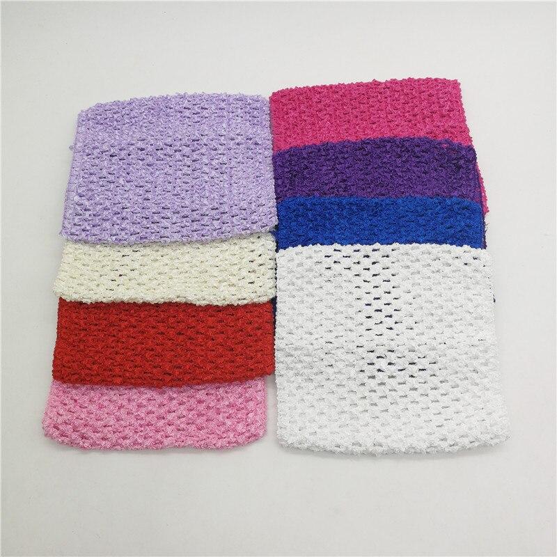 15*15CM 1-3 años pecho envuelto elástico envuelto pecho de punto chica Crochet diadema Tutu Tube Tops DIY falda vestido