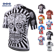 7415a111 White Skull Sublimation Printing Cycling Jersey Best 2019 Pro Polyester  Bike Wear Summer Men Quick Dry Cycling Top Bicycle Shirt