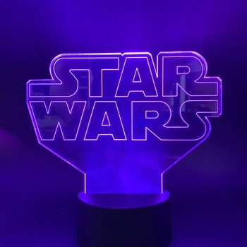 Movie Star Wars Character 3d Led Night Light Touch Sensor Switch 7 Color Changing Nightlight for Kids Child Bedroom Decor Lamp