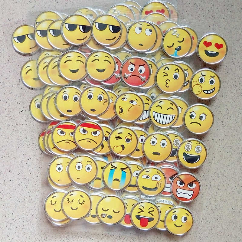 3D Expression Stickers Children Toys Cartoon Smile Sticker Classic Toy Emoji DIY toys for Child Mobile phone expression Sticker