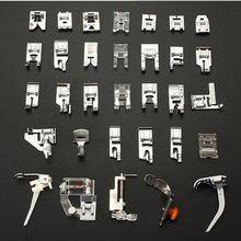 32 Pçs/set funcional Máquina De Costura conveniente Kit Conjunto Pé Calcador Para O Irmão Janome Singer