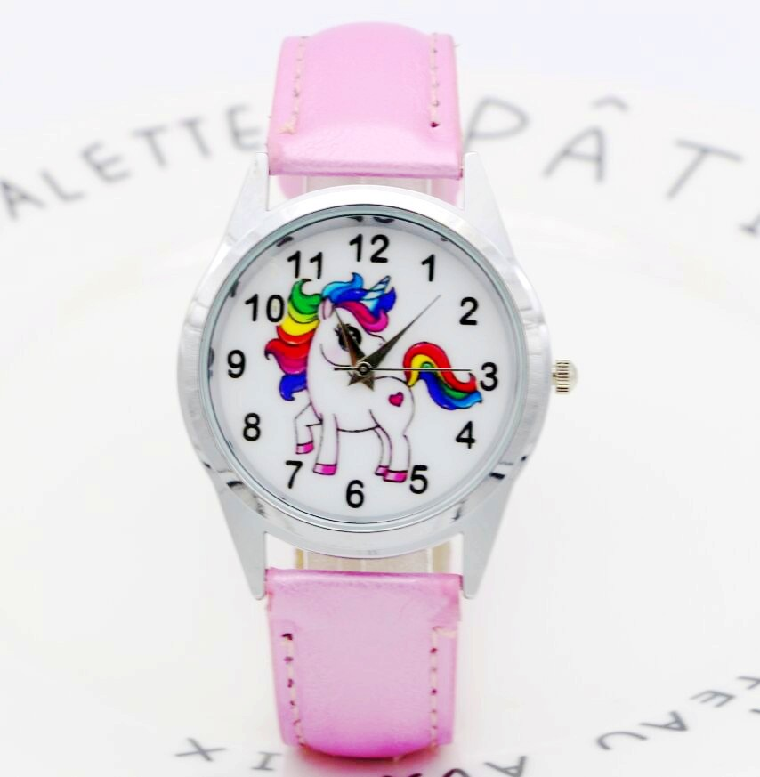 Relogio Feminino 2018 Clocks Children Watch Fashion Animal Cute Vintage Print Unicorn Kids Wrist Watch Elegant Students Watches