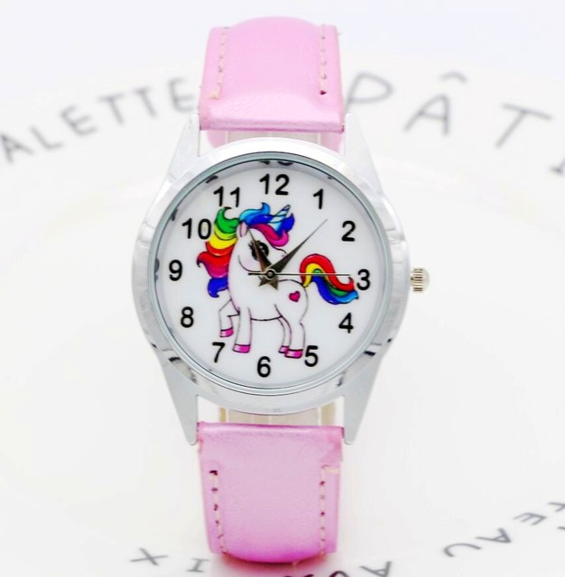 Relogio Feminino 2018 Clocks children watch Fashion Animal Cute Vintage Print un