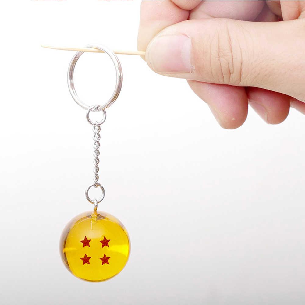 קריקטורה אנימה Z Keychain Keyring צהוב כוכב כדור ילד DBZ קוספליי Dragonball Z 7 כוכבים קריסטל כדור Keyrings