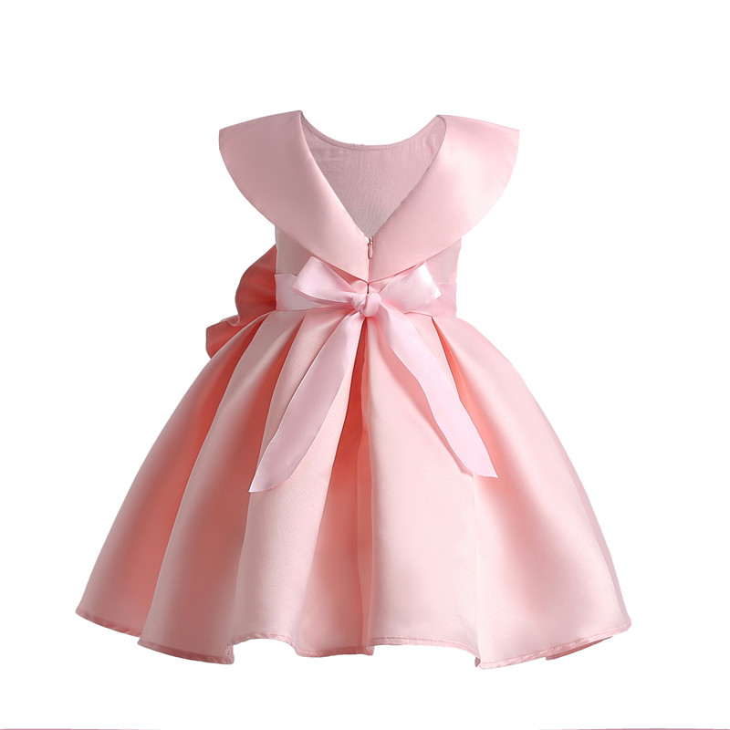 formal girl bow dress european style princess christening party reception  dresses with diamond sleeveless floral bow clothes-in Dresses from Mother    Kids ... a082c57e26e3