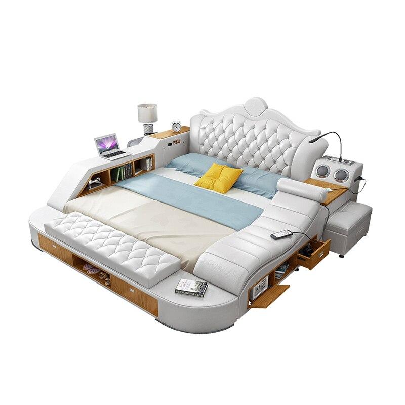 CBMMART China multifunctional modern tatami leather bed ...