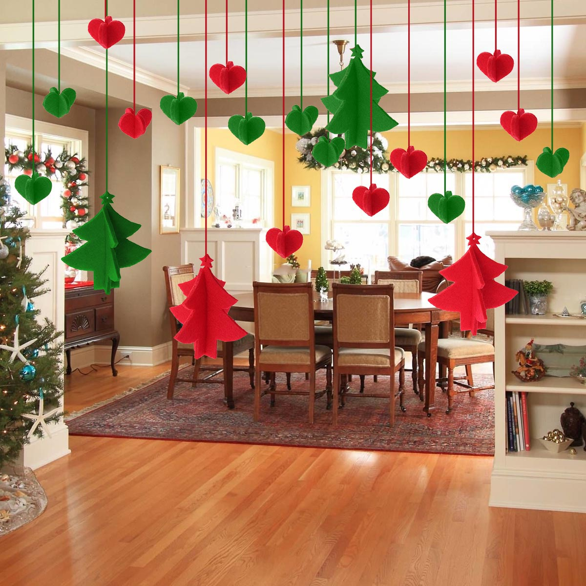 Us 3 91 30 Off Christmas Ornaments Crafted Felt Tree Hanging Kindergarten New Year Birthday Party Festival Decorations Shooting Props Charms In