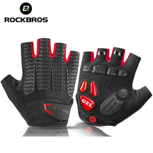 ROCKBROS Touch Screen Cycling Bicycle Gloves GEL Pad Shockproof Half Finger Mittens Bike Autumn Spring MTB