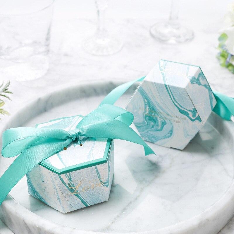 Chaud!!! 2019 Newst Arrive en marbre faveur de mariage et doux cadeau sacs boîte à bonbons pour événement de mariage Elmo fête fournitures 100 pièces - 3