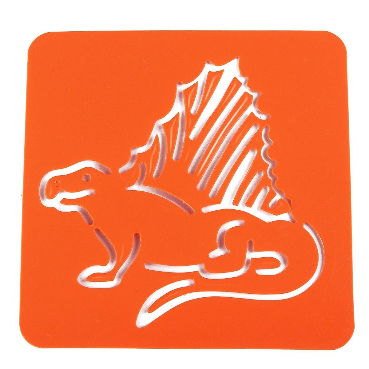 aliexpress com buy 12pcs dinosaur drawing painting template
