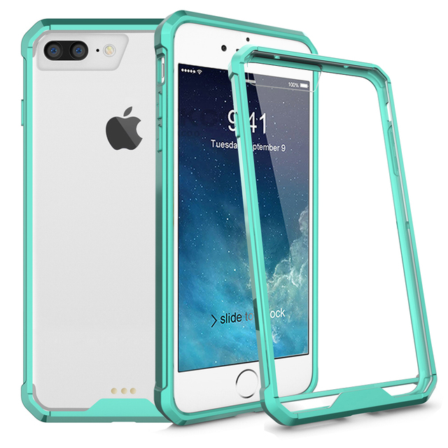 SuaGet Transparent Clear 7 Case For Apple iPhone 7 8 X Plus Shockproof Arcylic