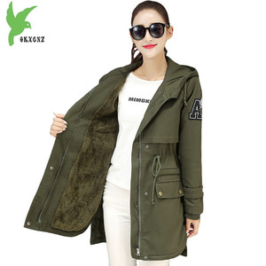 New Women Winter Flocking Cotton Jacket Boutique Fashion Solid Color Imitation Lamb Hair Hooded Coat Plus Size Loose OKXGNZ A942