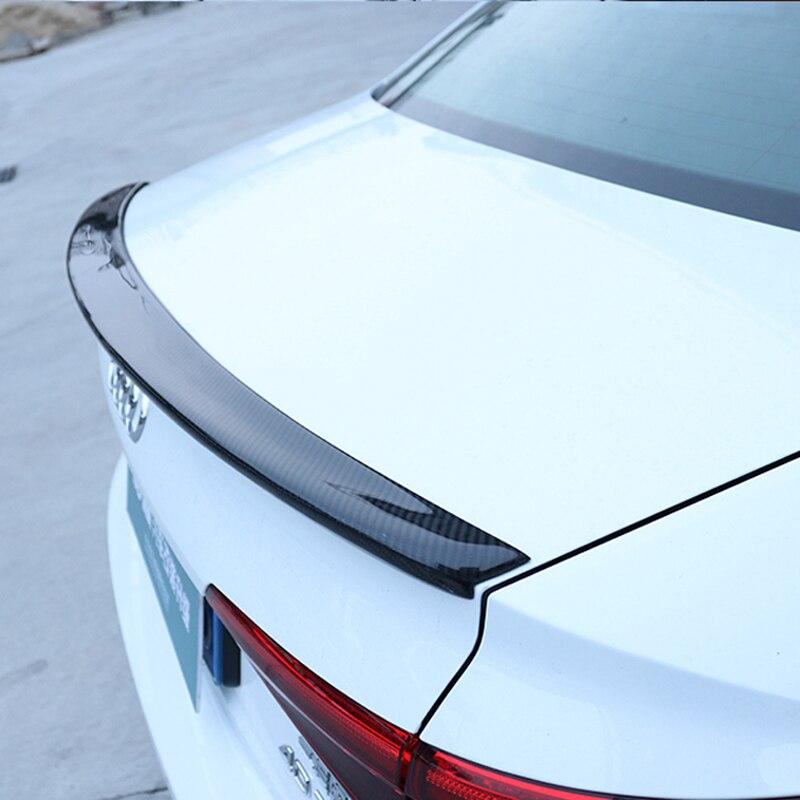 Pour Audi A4 B9 4 portes berline 2016 2017 2018 S4 style haute qualité en fibre de carbone aile arrière toit boîte arrière décoré spoiler
