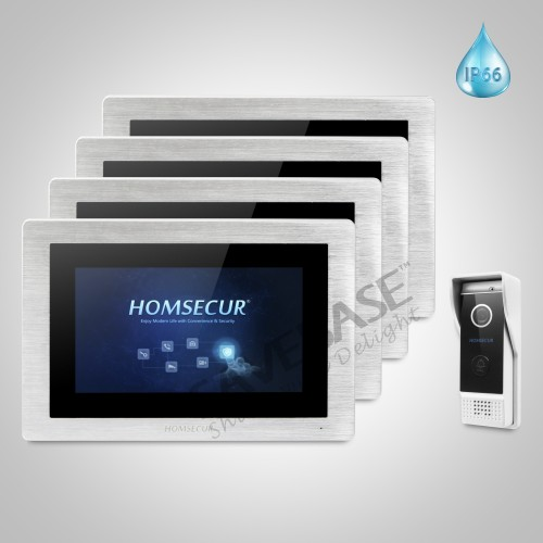 HOMSECUR 7 Wired Video Door Phone Intercom System+Call Transfer+Motion Detection for Apartment