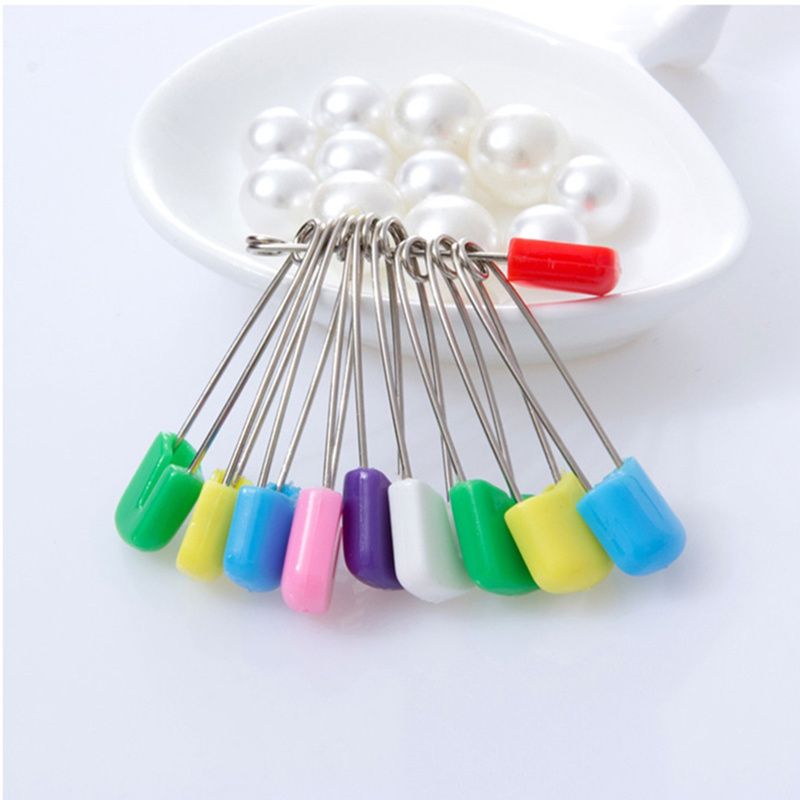 20pcs Candy Color Safety Pins Metal Jewelry Brooch Findings Iron Cloth Safety Pins Secure Clip for baby Care Shower Cloth Diape