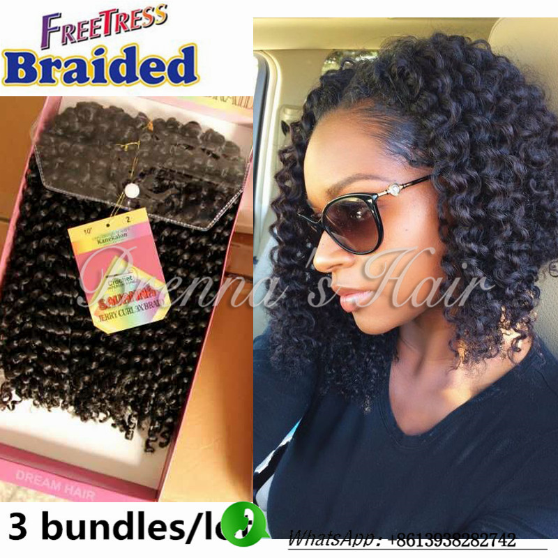 10inch 1b Freetress Braided Crochet Braids Synthetic Hair Kinky