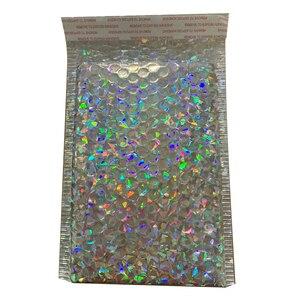Image 5 - 50 sztuk/partia 150x180mm złoty z papieru, wyściełane koperty koperty prezent torba Bubble koperta pocztowa torby do pakowania torby przewozowe