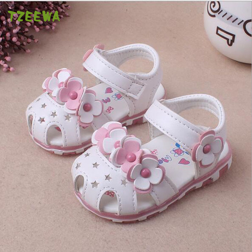 Baby Girls Sandals Summer Kids Shoes Soft Flat Shoes Baby Sandals Girls Flower Sandale Enfant Toddlers Children Shoes
