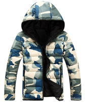 Hot New winter Men's and women Hooded Military Camouflage down cotton coat technical Couples Padded jacket Overcoat