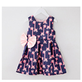 Sodawn NEW Fashion Kids Clothes Summer Style Bowknot Cute Deer Girls Dress Baby Girl Clothes Children's Dresses kids Clothing