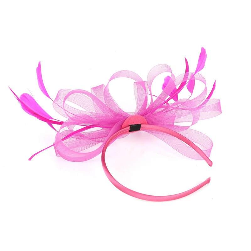 Fascinators Hat for Women Tea Party Headband Fancy Dress Accessories Wedding Hair Accessories For Women Hairband J12# (20)