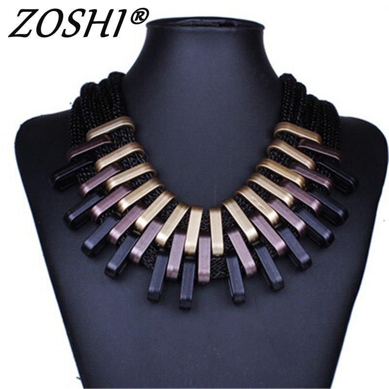 2019 nouveau acrylique Punk Vintage mode colliers et pendentifs femmes déclaration collier dégradé gouttes tour de cou Maxi Colar Feminino