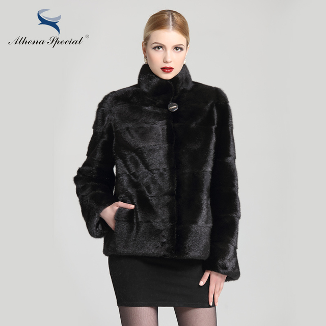 Athena Special 2018 stylish genuine fur coat women's real mink coats ladies short type natural mink fur jackets hot products