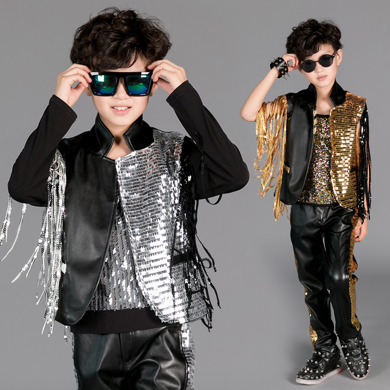 <font><b>2018</b></font> new <font><b>sexy</b></font> fashion Boys <font><b>costumes</b></font> children hip-hop Jazz sequins <font><b>costume</b></font> <font><b>set</b></font> freeshipping image