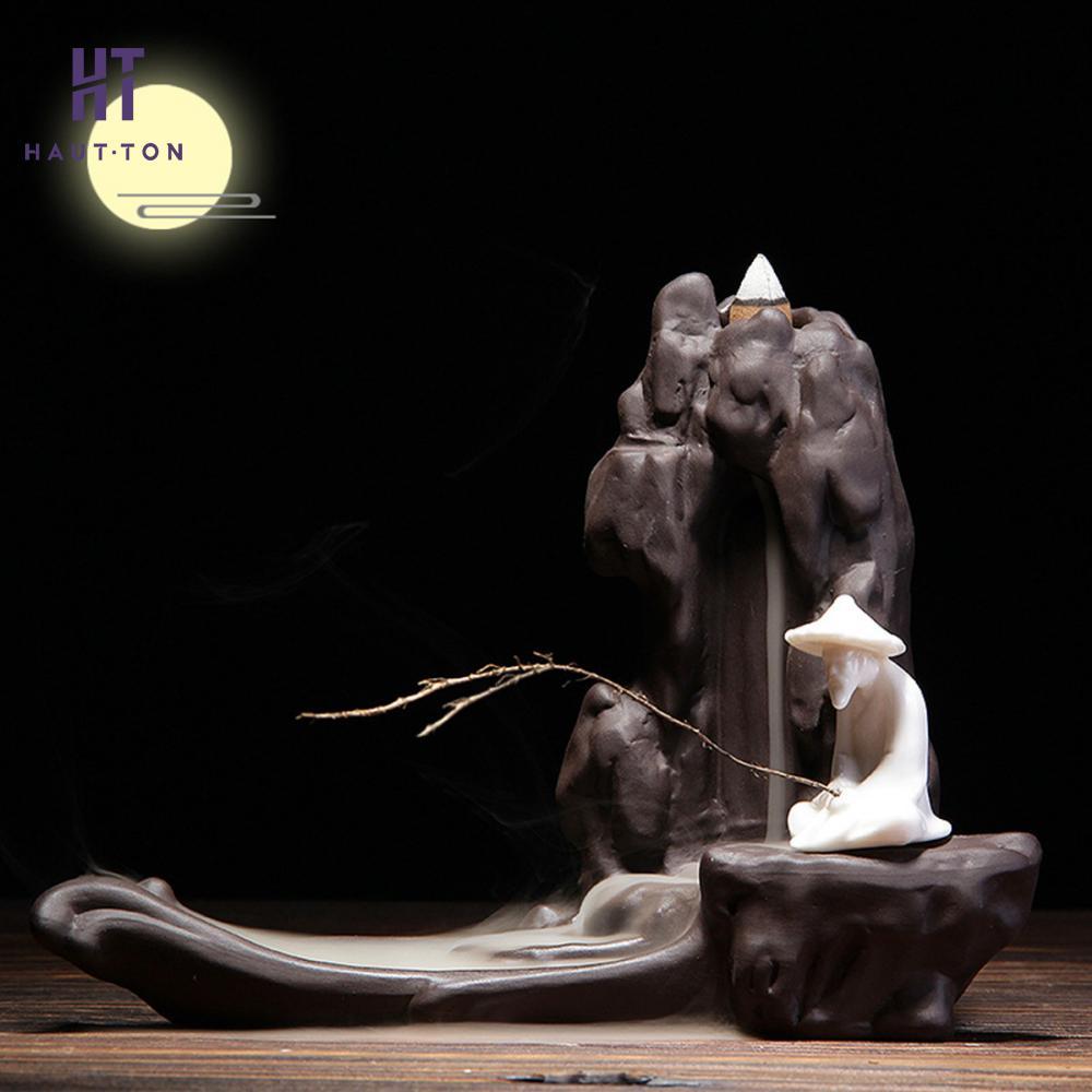 Porte bâton de sable violet Jiang Taigong pêche fumée retour flux créatif décoration de la maison four d'aromathérapie-in Encens et brûleurs d'encens from Maison & Animalerie    1