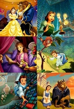 5D Diy Diamond Painting Cross Stitch Beauty and the Beast Mosaic Embroidery picture Rhinestones Gift Resin Dmc