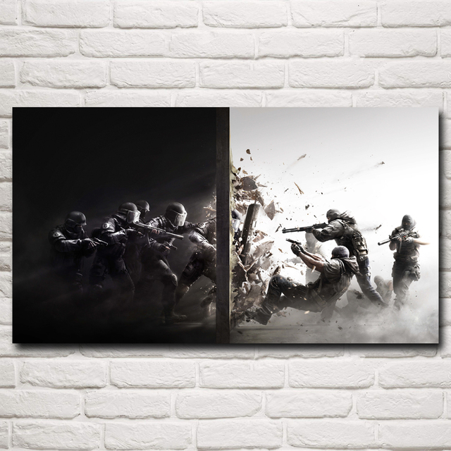 Rainbow Six: Siege Special Forces Police PC Game Art Silk Poster Decor Painting 11×20 16×29 20×36 24×43 30×54 Inch Free Shipping