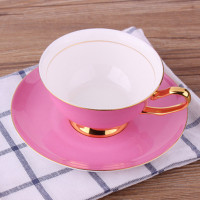 Elegant Ceramic Cup Coffee Cup Afternoon Tea Cup Plate Red Tea Cup Novelty Household Items Birthday