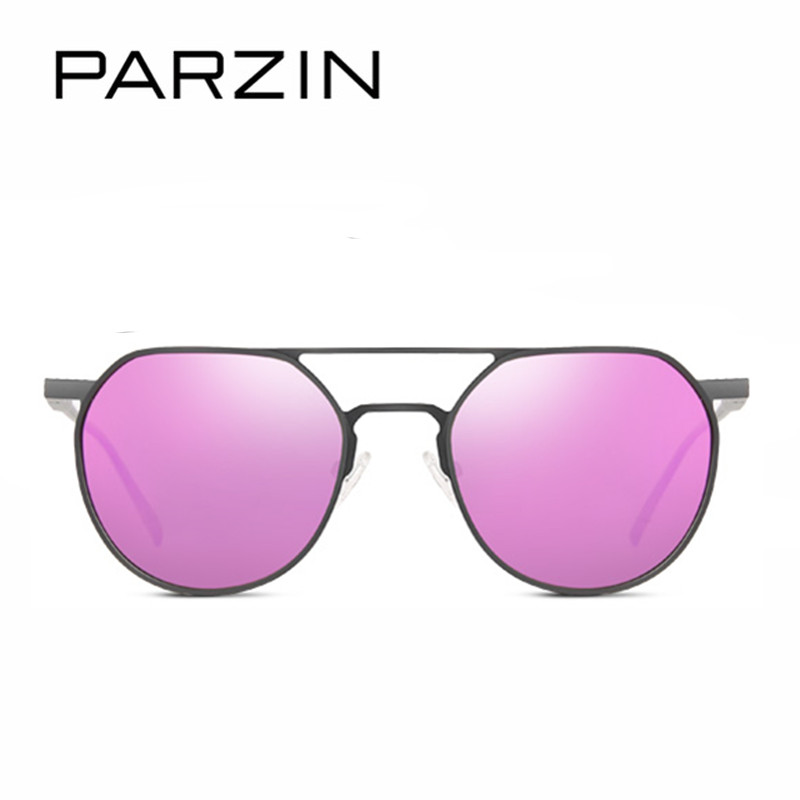 Parzin Fall black Coating Mit Für Designer Driving orange Rahmen Spiegel Purple silver Gläser 8168a Sonnenbrille Echt Pilot Polarisierte Legierung OFaqOr