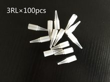 100pcs 3RL Needle Tips For Permanent Makeup Good Quality Traditional Tattoo Needle Caps
