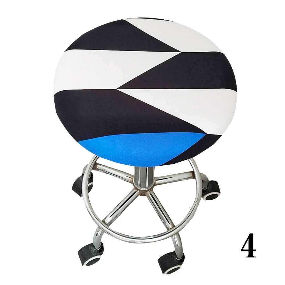 Офисный орнамент, мягкое круглое кресло для дома, для встречи, четыре сезона, полиэстер, эластичный бар, цветочный принт, чехол для стула