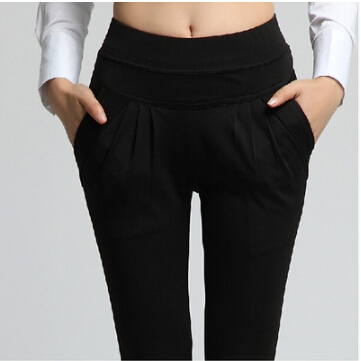 S-XXXL Pantalones Lápiz Para Las Mujeres Sólido Elástico Cintura Pantalones Casuales Delgado Pantalones Colores Candy P8034 Completo