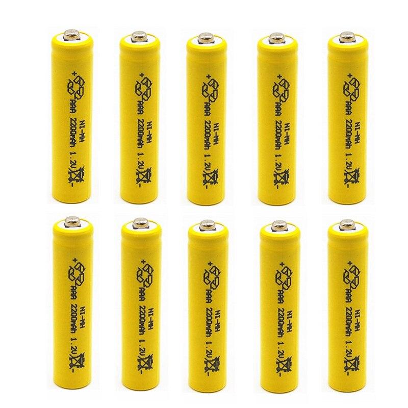 TBUOTZO 2/4/6/8/10PCS  Ni-MH 1.2V AAA Rechargeable 2200mAh 3A Neutral Battery Rechargeable Battery Li-ion Ni Mh Battery