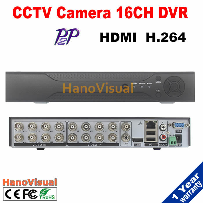 Free Shipping 16CH DVR For CCTV Camera Support iPhone Android PTZ RS485 Remote View P2P 16 channel CIF HDMI H.264 Motion Detect top quality 800tvl ir night vision waterproof cctv camera with16 channel motion detect camera recorder dvr support h 264 ptz