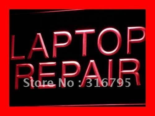 i472 Laptop Repair Computer Notebook LED Neon Light Sign On/Off Swtich 20+ Colors 5 Sizes