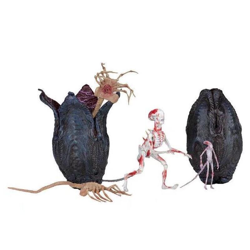 Movie AVP Aliens vs Predator Figure Series Alien Covenant Xenomorph Neomorph Creature Pack Toy Action Figures Model Toy Gift (10)