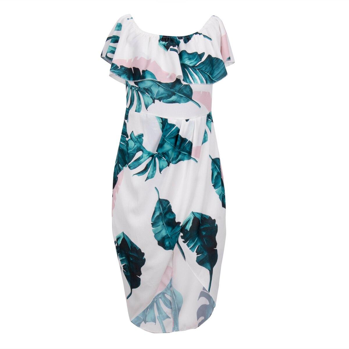 Elegant Womens Holiday Dresses Off Shoulder Floral Maxi Ladies ...
