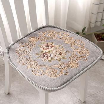 Kwiatowy wzór poduszka na krzesło wypełnienie z bawełny zestaw wypoczynkowy mata krzesło do jadalni poduszka na krzesło z bandażem ogrzewane siedzienie Pad Home Decor poduszki tanie i dobre opinie changbvss CN (pochodzenie) Poduszka na siedzenie poduszka na oparcie Przeciwodleżynowa Można zdjąć i prać Haftowana