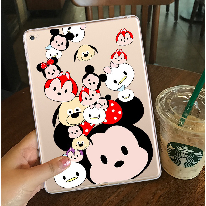 for iPad mini 4 Case Ultra-thin TPU Clear Cover Cute Print Soft Silicone Protective Back Cover for iPad mini 1 2 3 Case nice soft silicone back magnetic smart pu leather case for apple 2017 ipad air 1 cover new slim thin flip tpu protective case