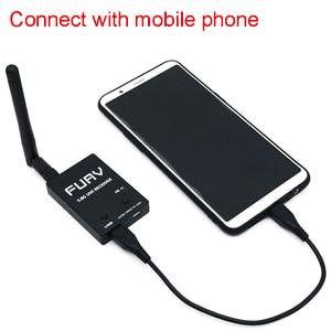 Image 5 - מוכן לשימוש 5.8G FPV מקלט UVC וידאו Downlink OTG VR אנדרואיד טלפון + 5.8G 200/600mw משדר TS5823 + CMOS 1200TVL מצלמה fpv