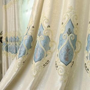 Image 5 - ヨーロッパスタイルシェーディング刺繍、リビングルーム、寝室のカーテンヴィラ、ローマカーテンロッド、ローリング、バックル、垂直、蝶カーテン