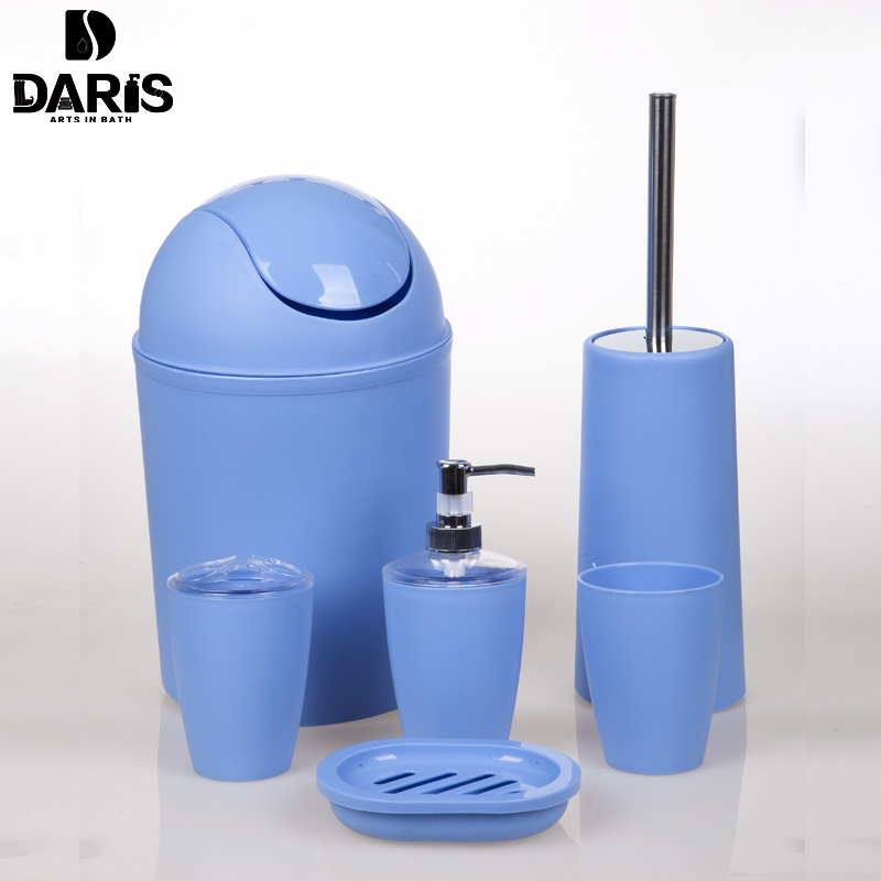 sdaris new plastic bathroom accessories set elegant soap dish shampoo bottle toothbrush holders box storage organizer