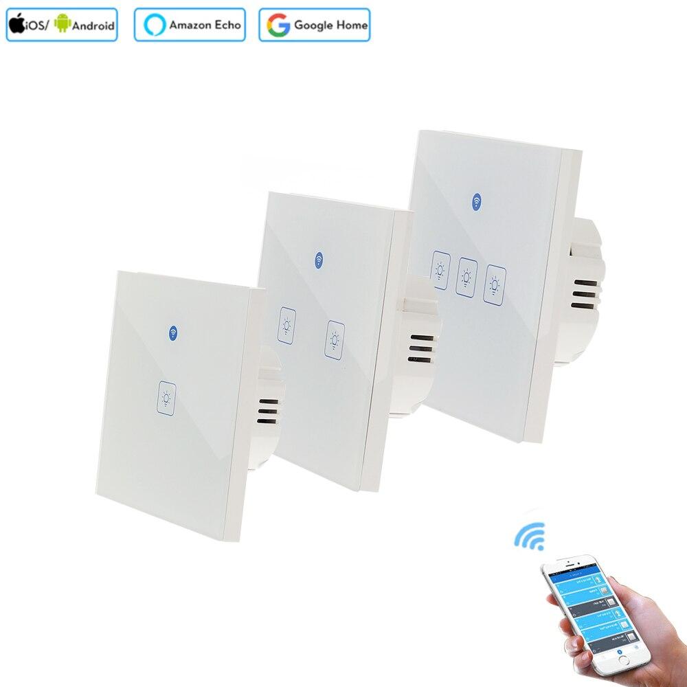 T1 Smart Wi-Fi РФ/APP/Touch Управление настенный выключатель